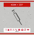 medical syringe icon vector image vector image