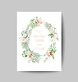 merry christmas and new year 2020 card with pine vector image vector image