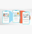 mobile app templates concept vector image vector image