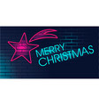 neon christmas star vector image