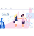 partnership landing corporate plan partnership vector image vector image