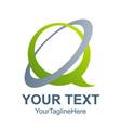 q letter logo design template technology logo vector image vector image