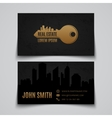 Real estate Business card template vector image