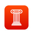 roman column icon digital red vector image vector image