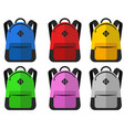school bags set isolated vector image vector image