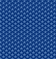 seamless blue nautical stars vector image vector image