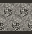 seamless pattern repeating monochrome vector image vector image