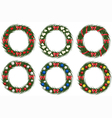 Set of christmas wreathes vector image