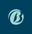 sign the letter b vector image vector image