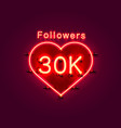 thank you followers peoples 30k online social vector image vector image