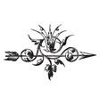 this design have arrow vintage engraving vector image vector image