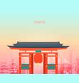tokyo temple japan vector image