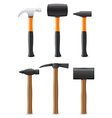 tool hammer 09 vector image vector image