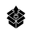 Unpacking black icon concept
