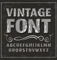 vintage font retro font vector image