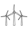wind energy icon outline style vector image vector image