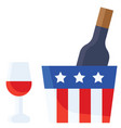 wine united state independence day related icon vector image vector image