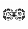 Yes and No buttons icon outline style vector image vector image