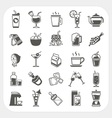 Beverage icons set vector image