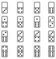 domino icon set vector image