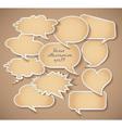 Speech bubbles Cardboard Set eps 10 vector image