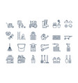 06 outline gardening harvesting icons set vector image vector image