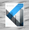 abstract business brochure flyer with buildings vector image vector image