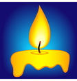 Abstract candle icon vector image vector image