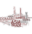 are you ready for asia text background word cloud vector image vector image
