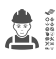 Builder Icon With Tools Bonus vector image