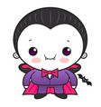 cartoon cute dracula character orders halloween vector image