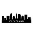 cleveland ohio skyline silhouette vector image vector image