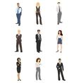collection business people vector image vector image