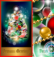 cosmic holiday fir tree vector image vector image