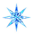 cute blue ice snowflake star vector image