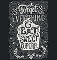 eat cupcake vector image