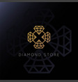 elegant luxury diamond gold logo design vector image
