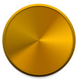 empty metal brass or bronze circle vector image