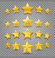 five star review on transparent vector image vector image