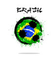 flag of brazil as an abstract soccer ball vector image vector image
