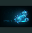 futuristic coronavirus covid-19 pandemic lockdown vector image vector image