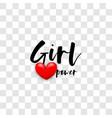 girl power handwritten lettering phrase vector image