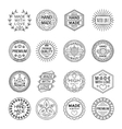 Handmade Emblems Linear Set vector image vector image