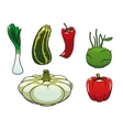 Healthy fresh and ripe farm vegetables vector image vector image