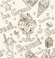 Ice cream seamless background vector image vector image