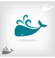 image of a big whale vector image vector image