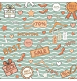 in blue tones pattern on shopping themed vector image