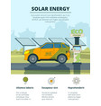 infographics of electro cars eco conceptual vector image vector image