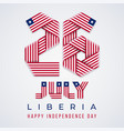 july 26 liberia independence day congratulatory vector image vector image