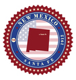 label sticker cards state new mexico usa vector image